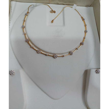 Manufacturer Of 22kt Gold Ladies Indian Modern Designer Necklace