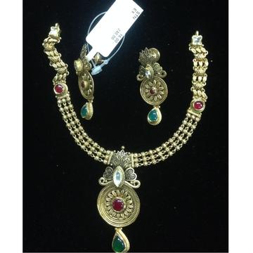 916 gold antique necklace