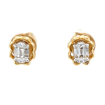Adorable oval pressure set diamond studds 8top189