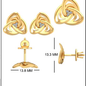22Kt Yellow Gold Carmella Earrings For Women