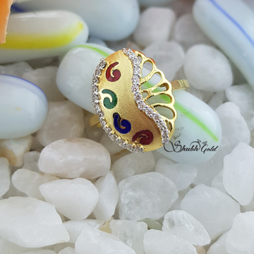 Colour Meena Ring by Shubh Gold