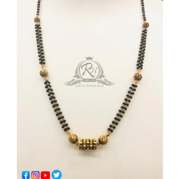 22 carat gold designs at best ladies mangalsutra RH-MN203