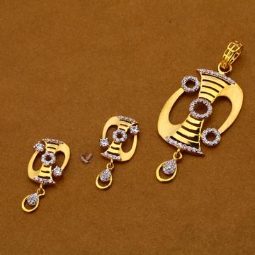 916 Gold Cz Pendant Set FPS166