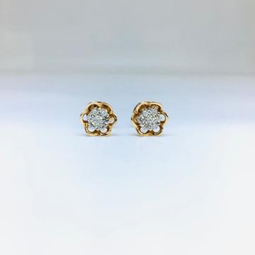 REAL DIAMOND FANCY ROSE GOLD EARRINGS by