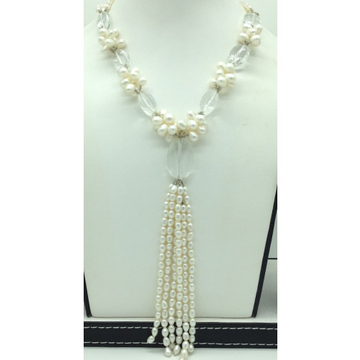 White OvalPearlswith Sphetic 3 Layers LongNeckl...