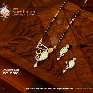 cz mangalsutra pendal set by