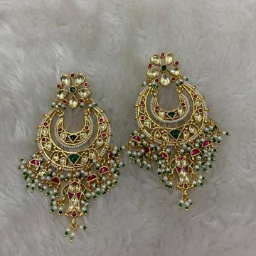 Artificial White Moti Wedding Earrings by
