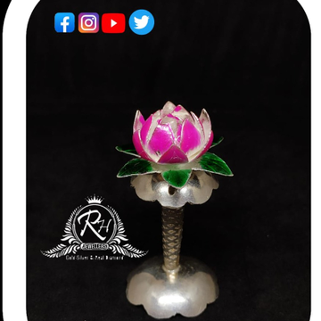 silver lotus flower for pooja and gifting RH-LF362
