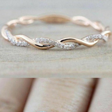 18 KT Rose Gold fancy daily ware band for ladies L... by