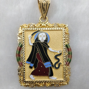 916 Gold Fancy Mogal Maa Pendant