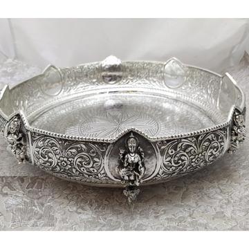 925 Pure Silver Antique Pooja Thali PO-263-33 by Puran Ornaments