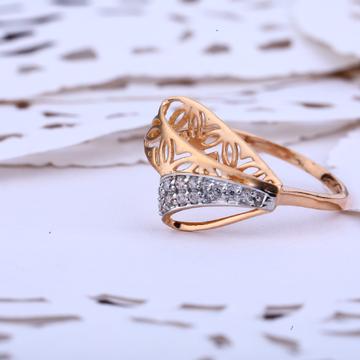 Rose Gold Stylish Unique Design Ladies Ring-RLR408
