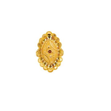 22 k  lightwt  YELLOW gold ladies ring RJ-LRG-005 by