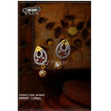 18 carat Gold ladies tops with ball  earrings and... by