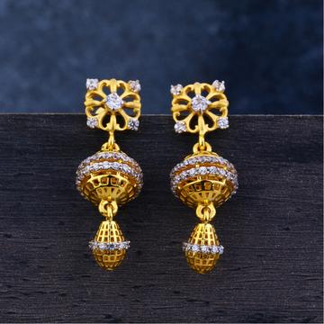 Ladies 22K Gold Jummar Antique Earrings -LJE121