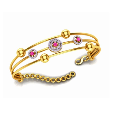 916 Gold CZ Designer Bracelet For Women SO-B009 by S. O. Gold Private Limited