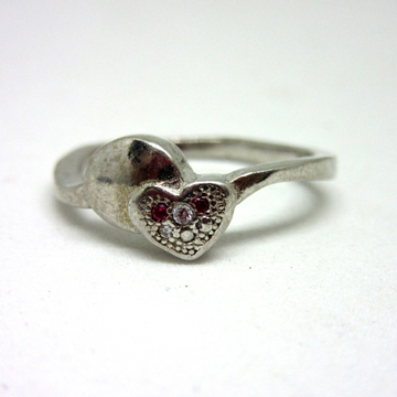 Silver 925 heart shape ring sr925-92