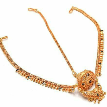22KT/ 916 Gold rajasthani traditional bridle Mang... by