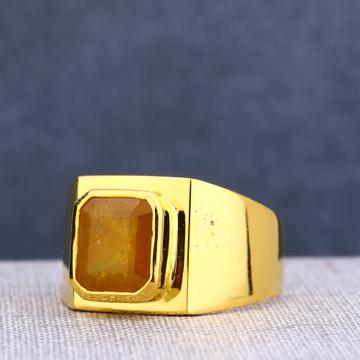 22KT Single Gold Designer Men's Stone Ring MSR83