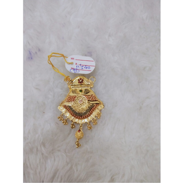 22KT Gold Flower Design Pendant MJ-P003 by