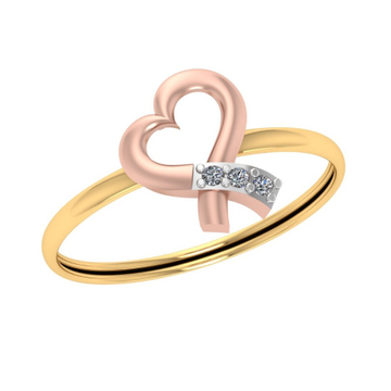 916 Gold Heart Shape Diamond Ring JJ-R01