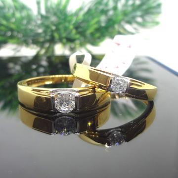 916 GOLD CZ DAIMOND  COUPLE RINGS
