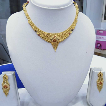 916 Gold Necklace Set RJ-N005 by