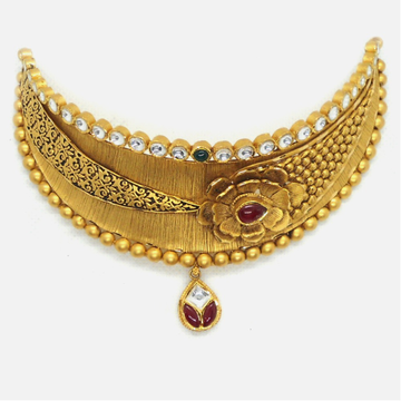 916 Gold Antique Bridal Choker Set RHJ-4076