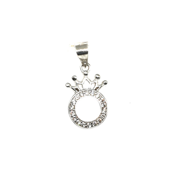 925 Sterling Silver Round Shape Queen Pendant MGA - PDS0101