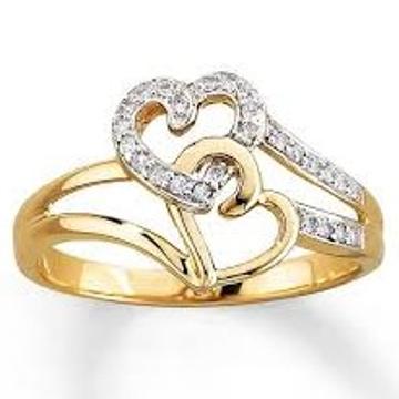 first love cz diamond ring lR 007