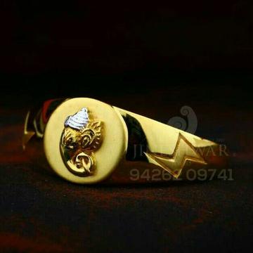 916 Ganpati Casting Plain Gents Ring