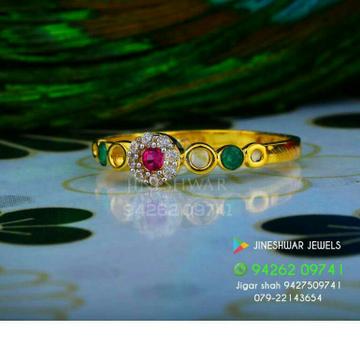 Attractive Gold Cz Fancy Ladies Ring LRG -0327