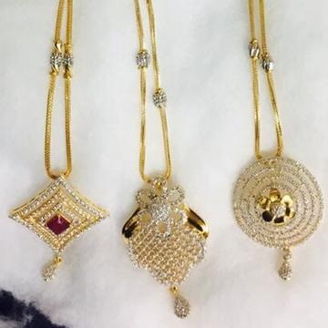 916 gold cz chain pendant set cps-0003