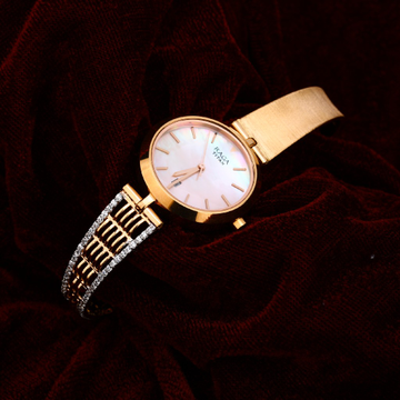 Rose Gold Ladies Cz Watch-RLW84