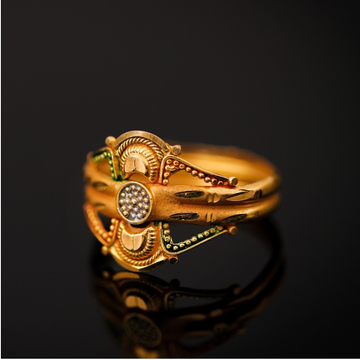 Shop online hallmark gold ring from miteshgold.com... by