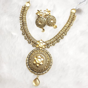 916 Gold Antique Khokha Necklace Set KG-N05