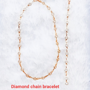 Dimond cahin bracelet by J.H. Fashion Jewellery