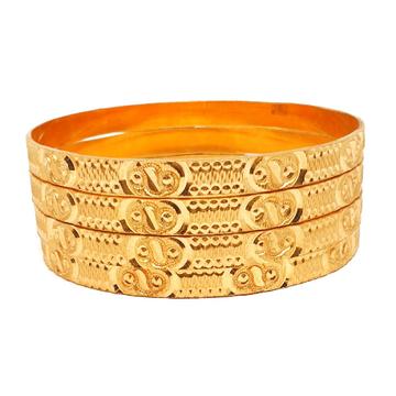 One gram gold forming plain bangles mga - bge0330