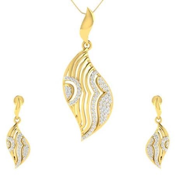 22 karat, 916 hall-marked, yellow gold fancy curvy design earrings and pendant set for women jkp003