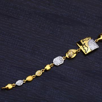 Ladies 916 Gold Cz Bracelet-LB148