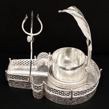 silver shiva linga RH-PI926