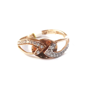 18k rose gold fancy ring mga - rgr0010