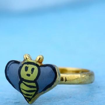 916 Gold 22Kt Bacha Cartoon Ring RH-BR23
