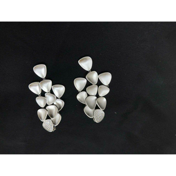 92.5 Sterling Silver Beautiful Pis Shape Pendant Set Ms-3848