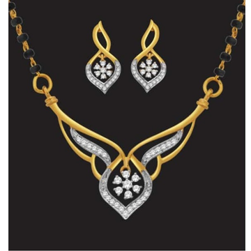22k gold designer diamond mangalsutra jj-m10 by