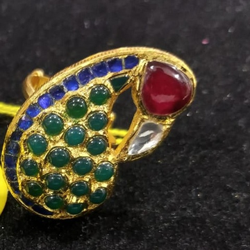 22 k 916 gold jadtar ring by