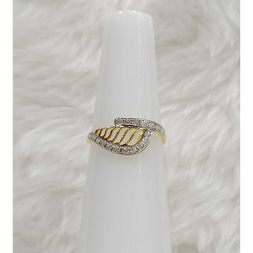 22KT Gold Designer CZ Ladies Ring