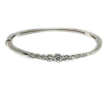 925 Sterling Silver CZ Diamond Bracelet MGA - KRS0047