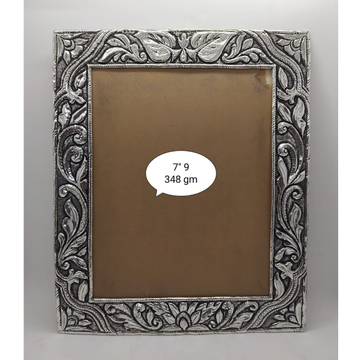 Pure silver photo frame in fine carvings po-171-07 by Puran Ornaments