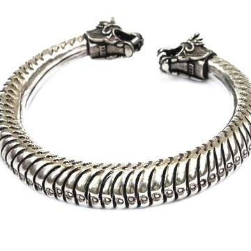 925 Sterling Silver Lion Bracelet MGA - KRS0104